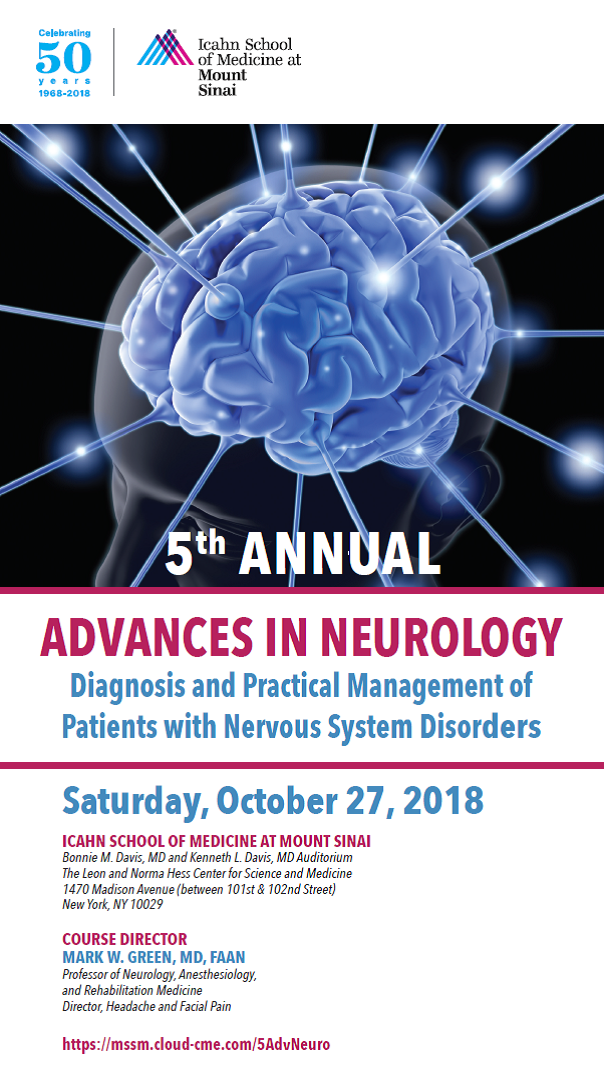 5th ANNUAL ADVANCES IN NEUROLOGY: Diagnosis and Practical Management of Patients with Nervous System Disorders Banner