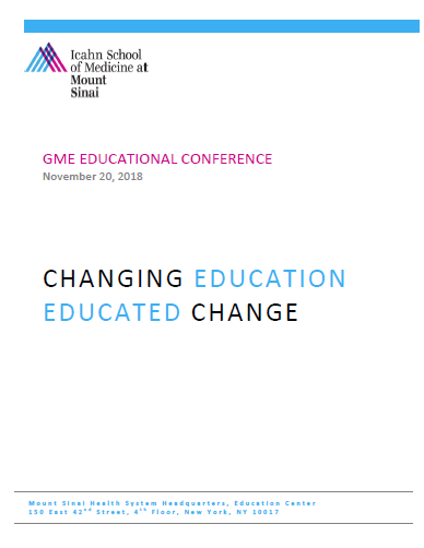 ISMMS GME Educational Conference Banner