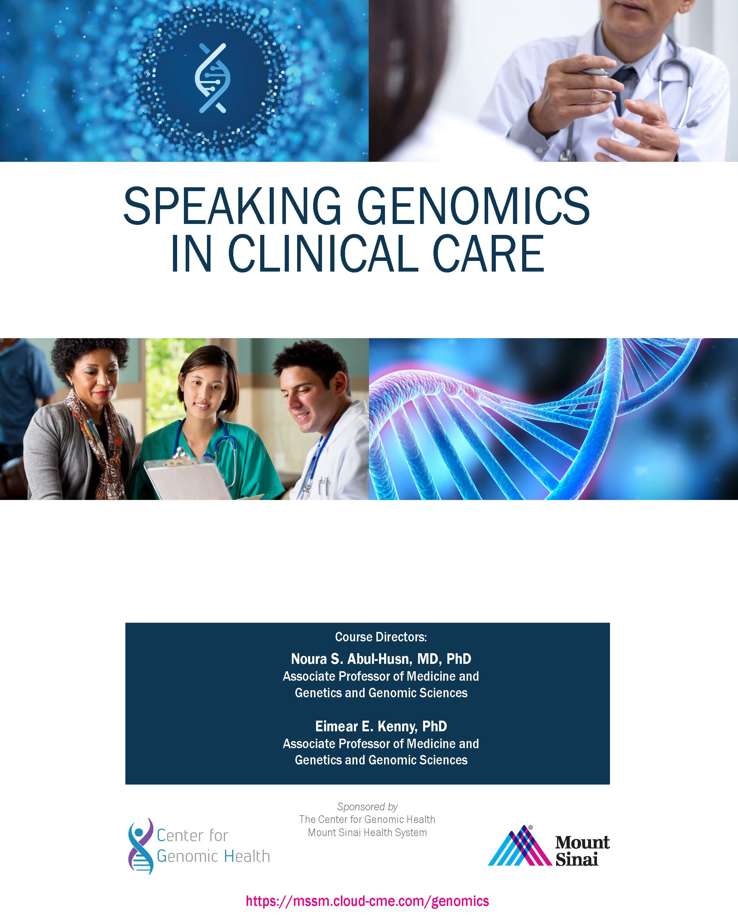 Speaking Genomics in Clinical Care Banner