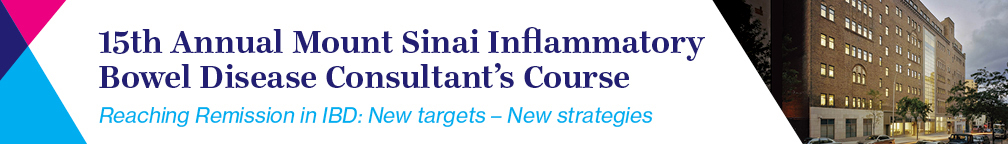 15th Annual Mount Sinai Inflammatory Bowel Disease Consultant's Course Banner