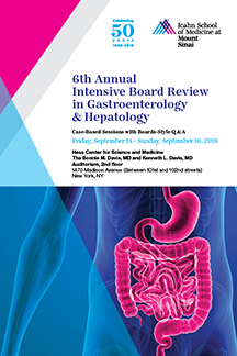 6th Annual Intensive Board Review in Gastroenterology & Hepatology 2018 Banner