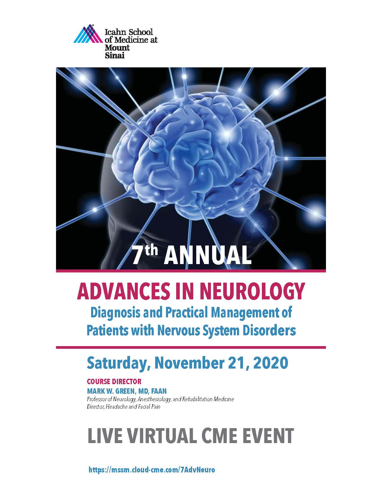 7th Annual Advances in Neurology: Diagnosis and Practical Management of Patients with Nervous System Disorders Banner