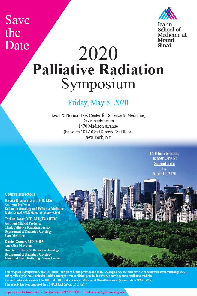 2nd Palliative Radiation Oncology Symposium Banner
