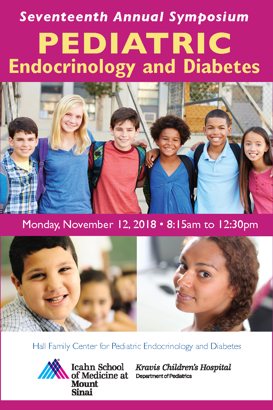 Seventeenth Annual Pediatric Endocrinology and Diabetes Symposium Banner