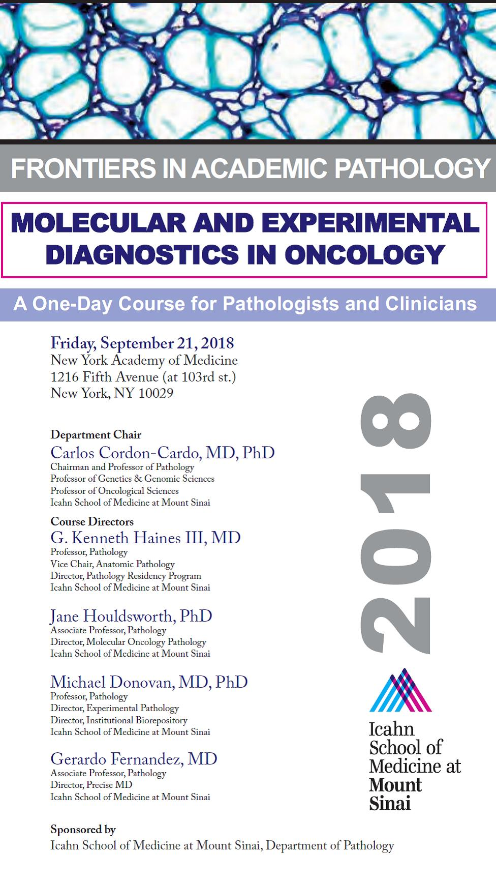 Frontiers in Academic Pathology: Molecular and Experimental Diagnostics in Oncology Banner