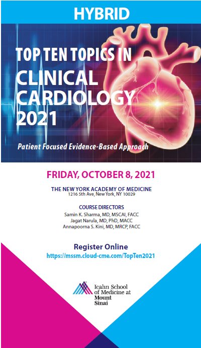 Top Ten Topics in Clinical Cardiology 2021 Banner