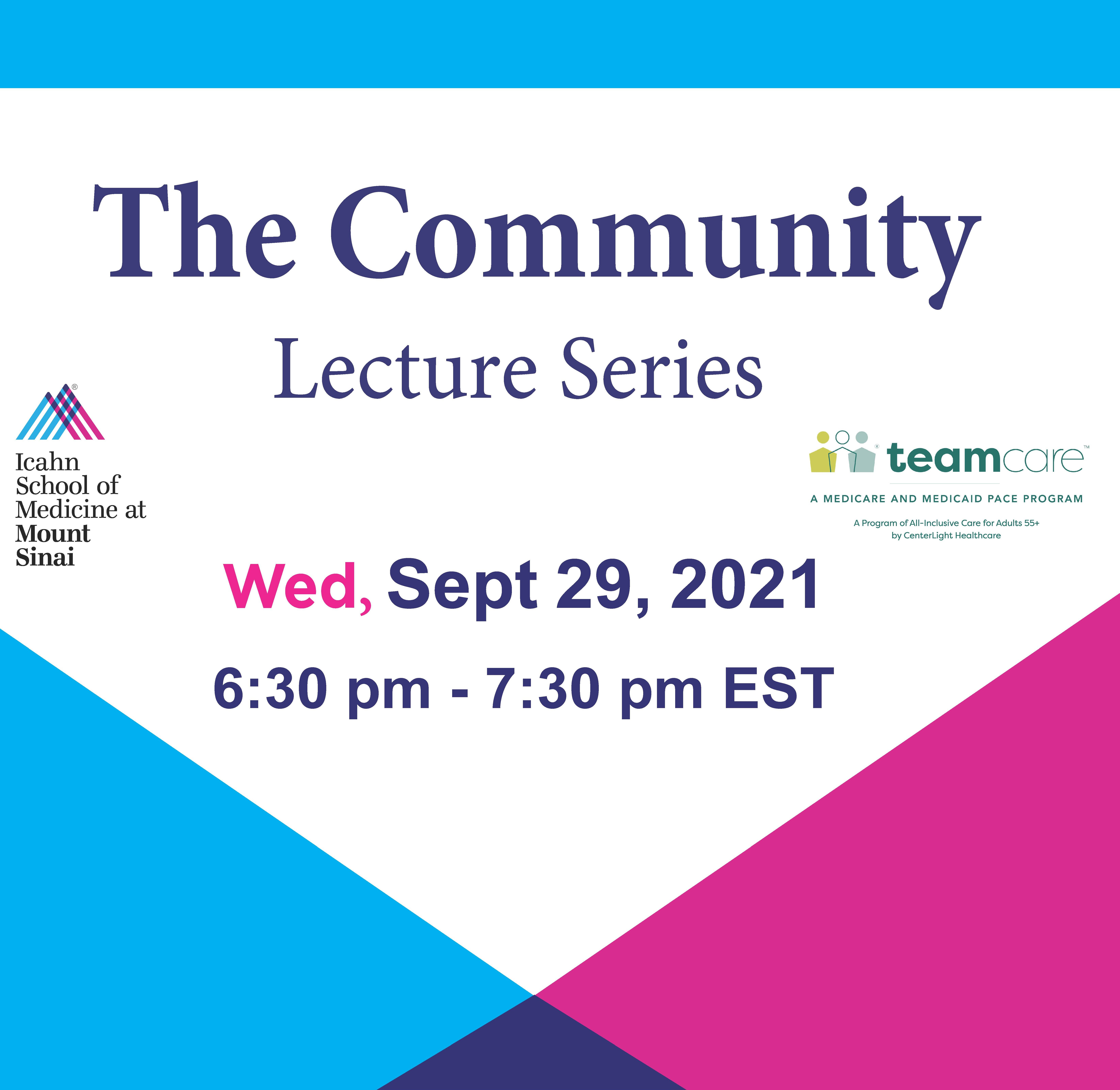 Liver Disease in the Geriatric Population: The Community Lecture Series Banner