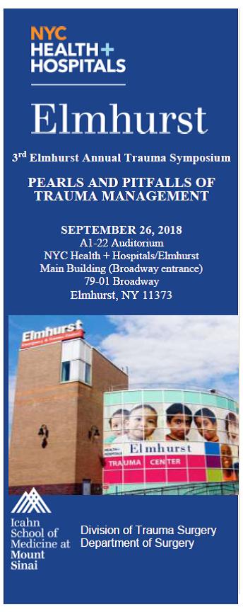 3rd Annual Elmhurst Trauma Symposium: Pearls and Pitfalls of Trauma Management Banner