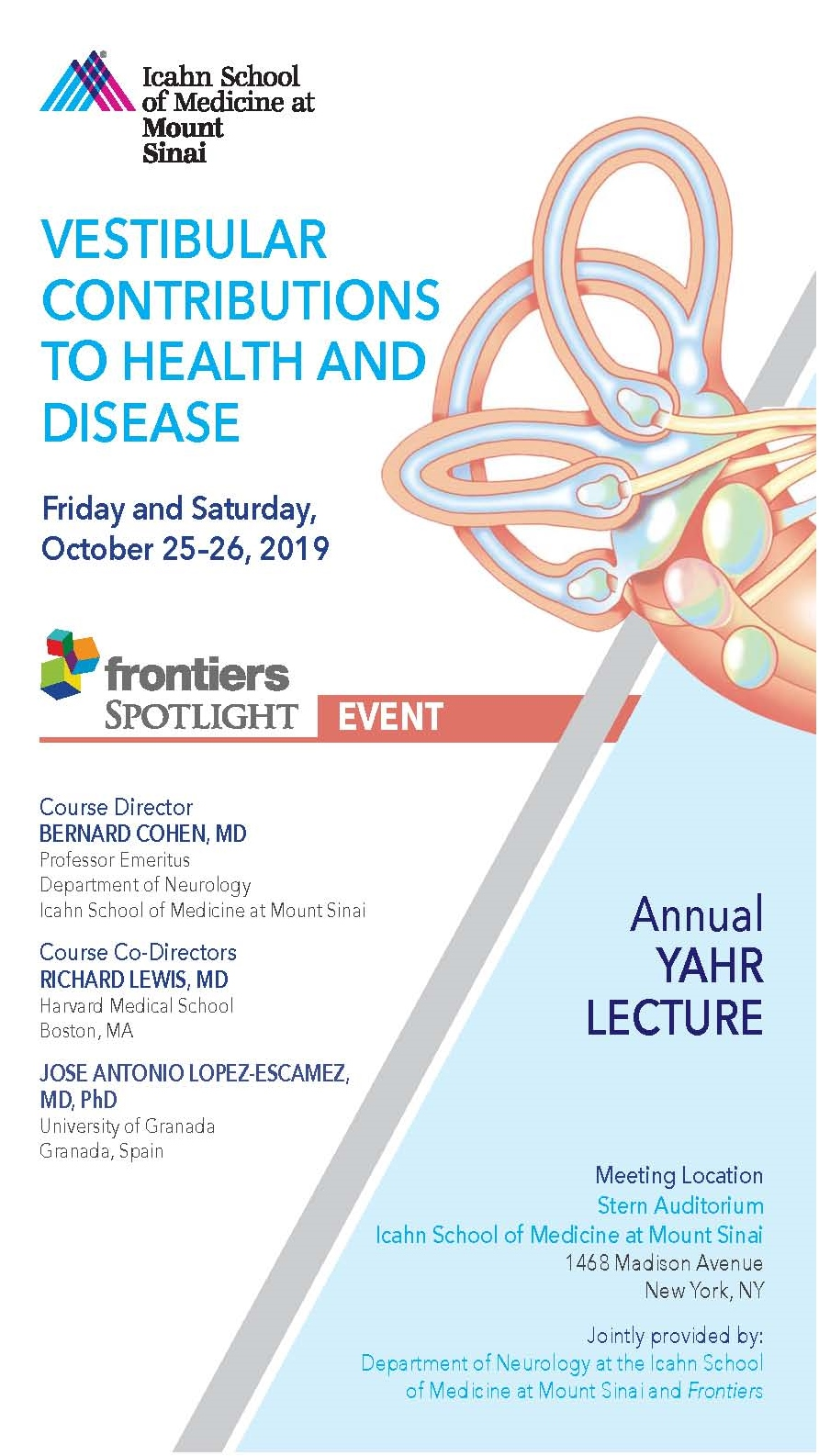 Vestibular Contributions to Health and Disease Banner
