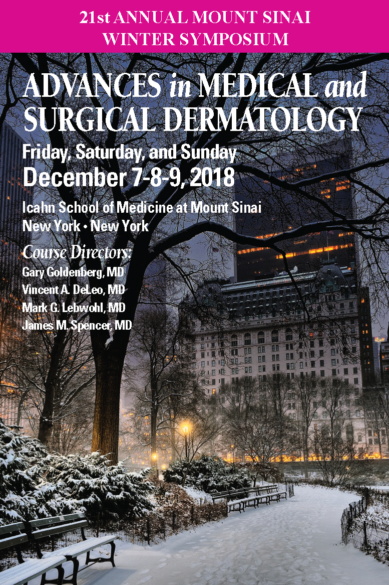 21st Annual Mount Sinai Winter Symposium Banner