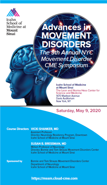 Advances in Movement Disorders: The 9th Annual NYC Movement Disorder CME Symposium Banner