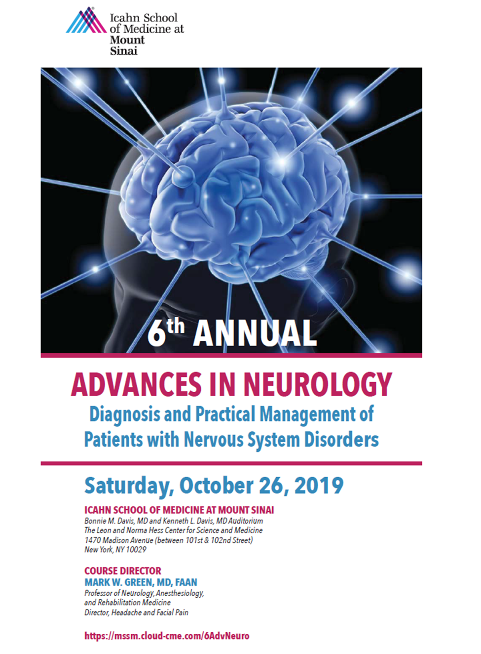 6th Annual Advances in Neurology: Diagnosis and Practical Management of Patients with Nervous System Disorders Banner