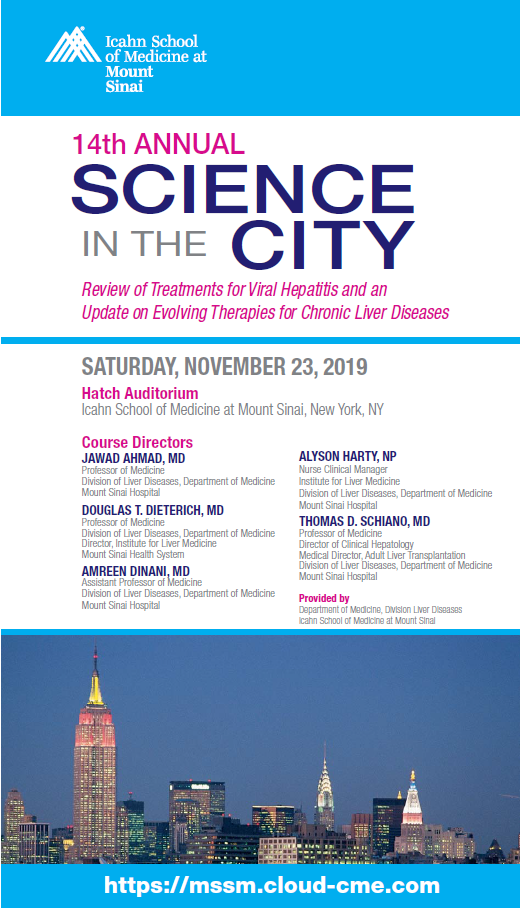 Science in the City: Review of Treatments for Viral Hepatitis and an Update on Evolving Therapies for Chronic Liver Diseases Banner