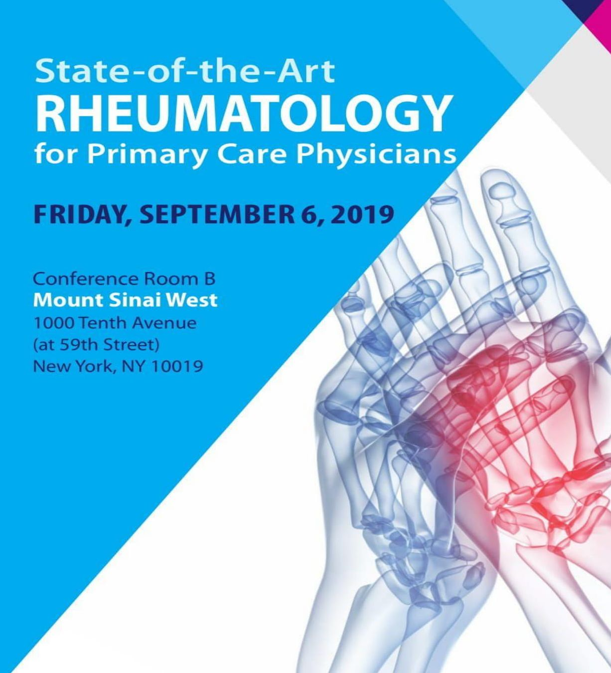 State-of-the-Art Rheumatology for the Primary Care Physicians Banner